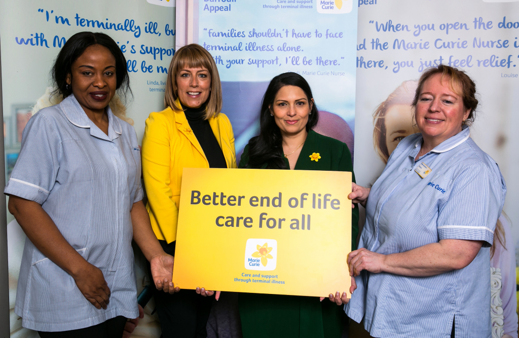 Priti and Fay Ripley help launch Marie Curie's Great Daffodil Appeal