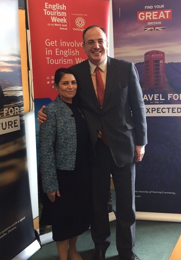 Priti Patel backs English Tourism Week: 17-25 March 2018