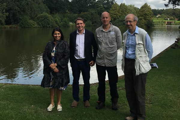 Priti Patel joins team at historic Marks Hall to view WW2 archives