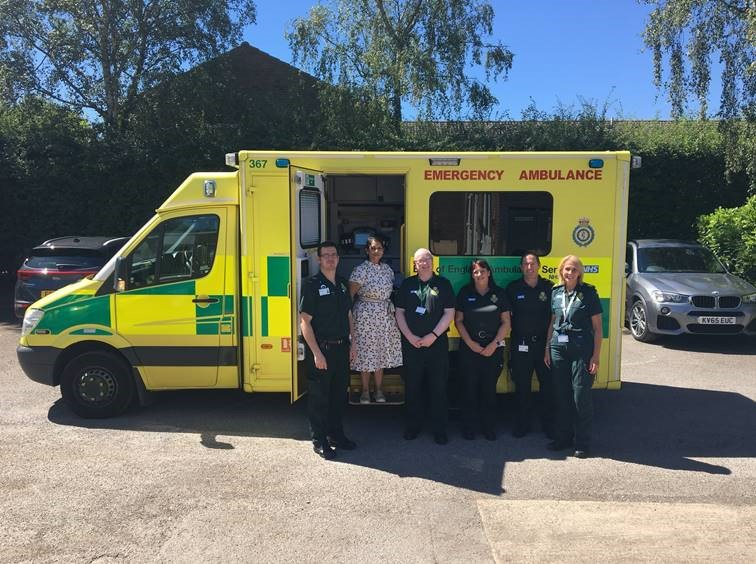 Priti Patel meets Ambulance Service in Witham - Rt  Hon