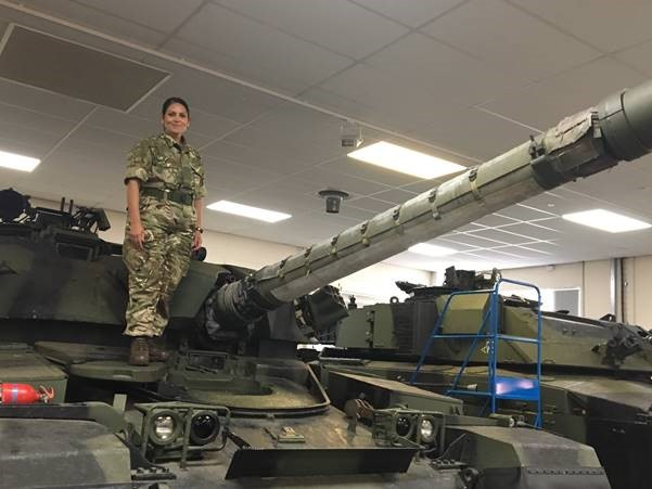 Priti joins Armed Forces Parliamentary Scheme