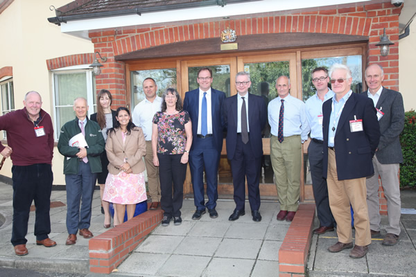 Priti welcomes Environment Secretary to Tiptree