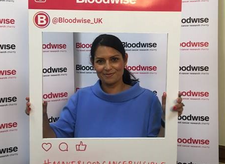 Priti raises awareness of blood cancer