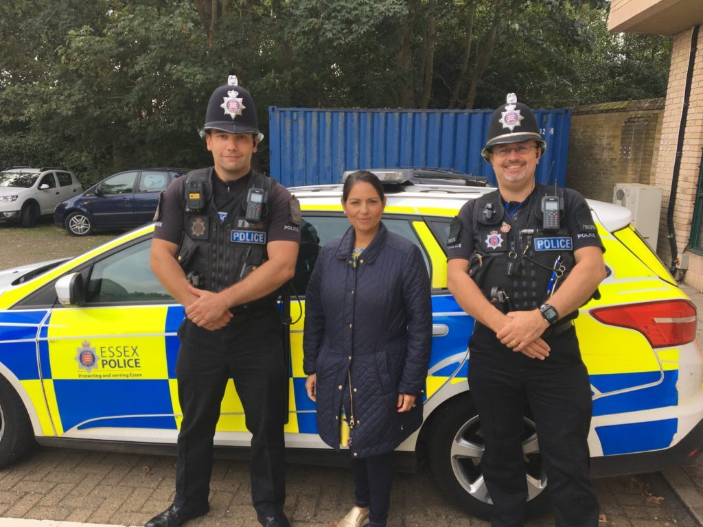 Priti welcomes police funding increases