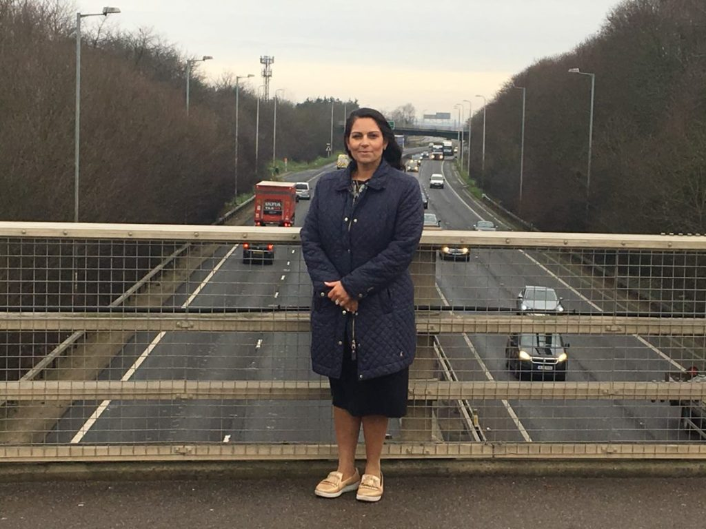 Priti calls for action on A12 scheme