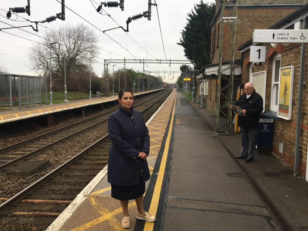 Priti Patel MP challenges rail operators over New Year disruption