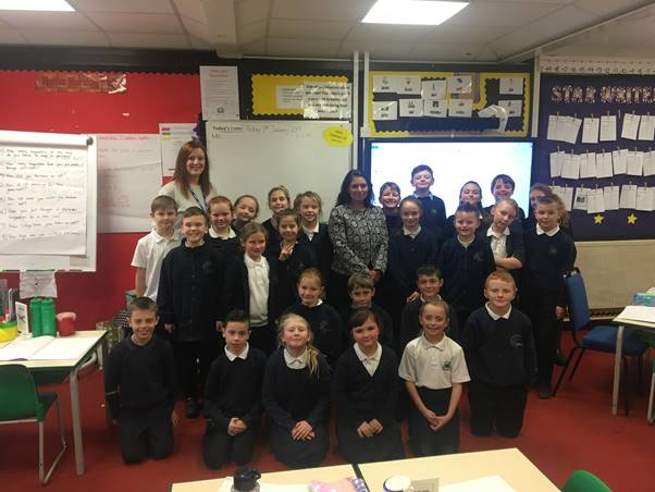 Witham MP visits Elm Hall Primary School to talk about role