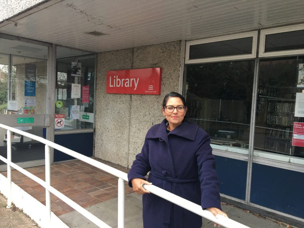 Priti calls for responses to libraries consultation