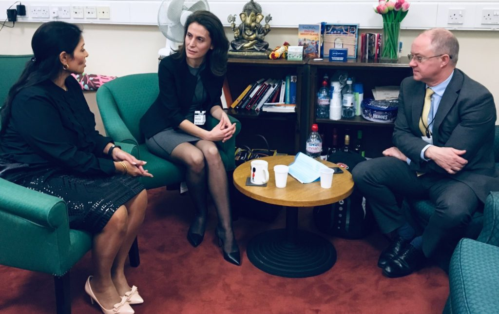 Priti Patel MP meets Network Rail to discuss plans for Great Eastern Main Line