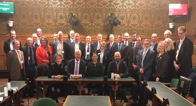 Priti Patel MP chairs business meeting with Transport Secretary