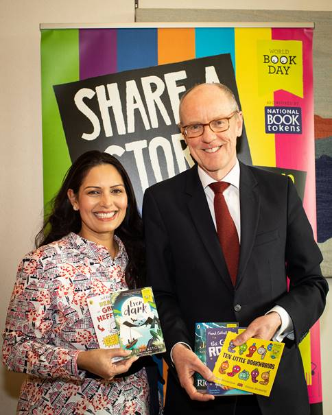 Priti Patel MP supports World Book Day campaign