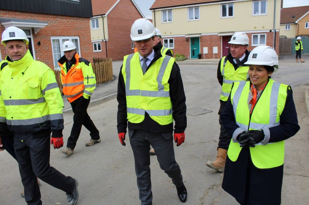 Priti Patel MP visits Stanway housing development