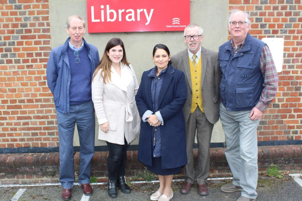 Priti joins fight to save Wickham Bishops Library