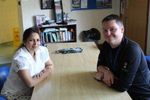 Priti Patel MP meets Chief Superintendent Andy Marine