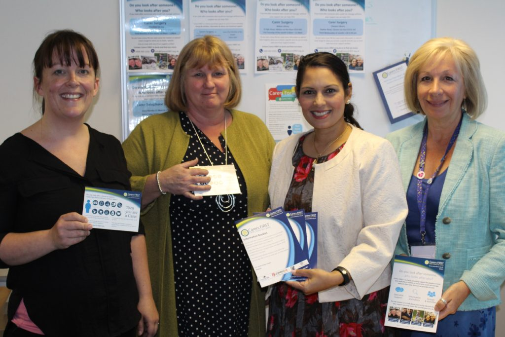Priti Patel MP visits Carers First