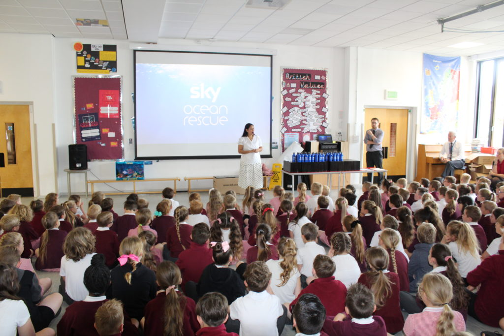 Priti Patel MP leads assembly at Silver End Academy