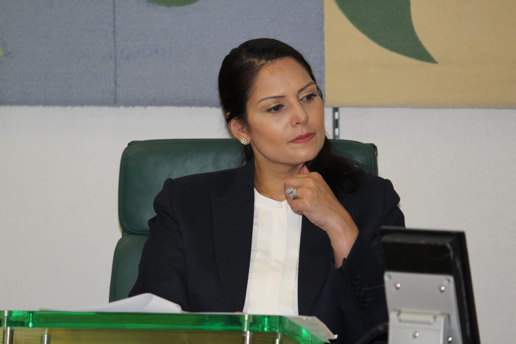 The Rt Hon Priti Patel MP chairing the latest GEML at Portcullis House, Westminster 24.06.19