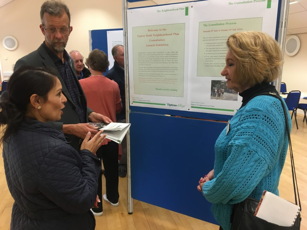 Priti views Tiptree Neighbourhood Plan proposals