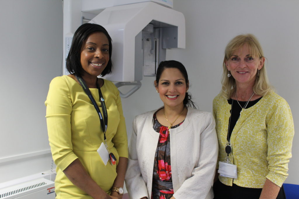 Priti Patel MP meeting Community Dental Services CIC