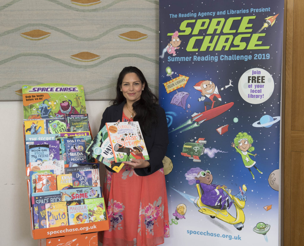 Priti Patel MP supports Witham campaign for every child to join local library and share a love of reading