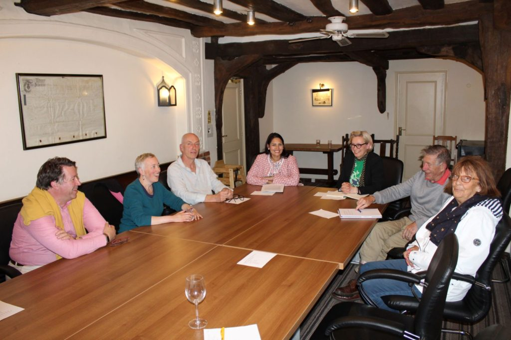 Priti Patel MP with members of the Coggeshall Working Group