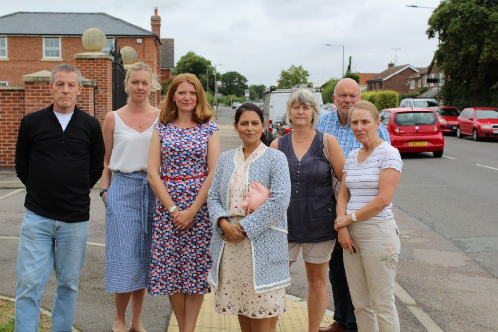 Priti Patel MP meets local residents to assess long term nuisance car parking problem in Copford