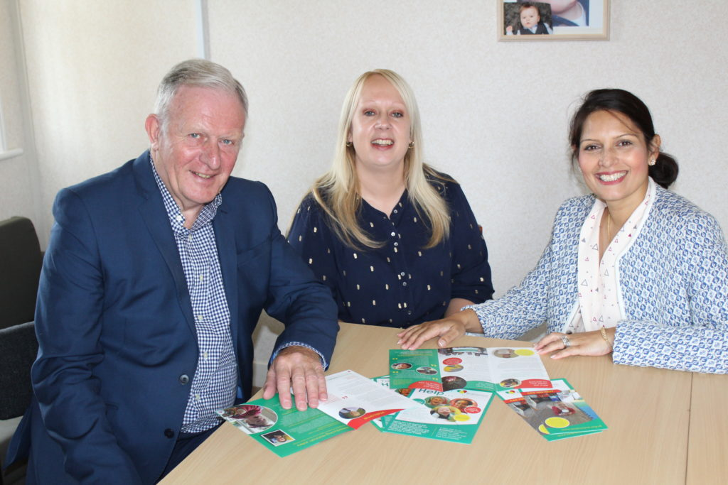 Priti's support for local children's charity Brainwave