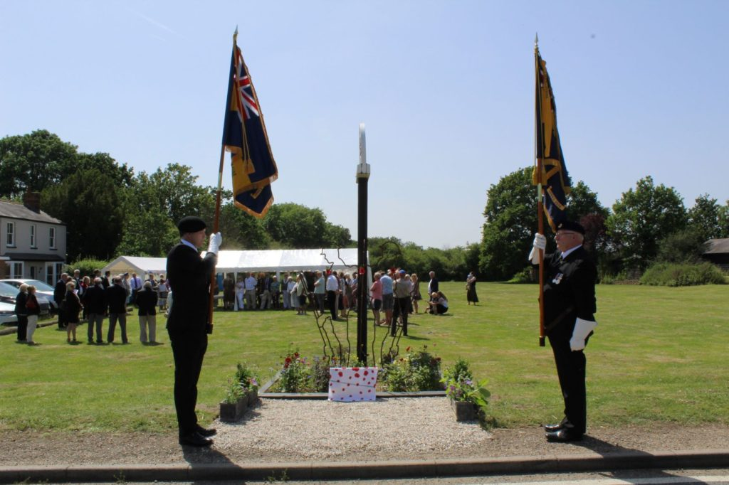 VIPs unveil Little Totham War Memorial