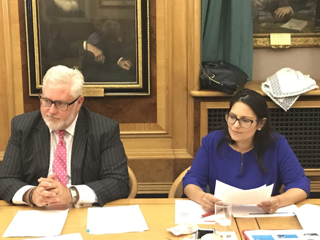 Priti Patel MP with Cllr Kevin Bentley