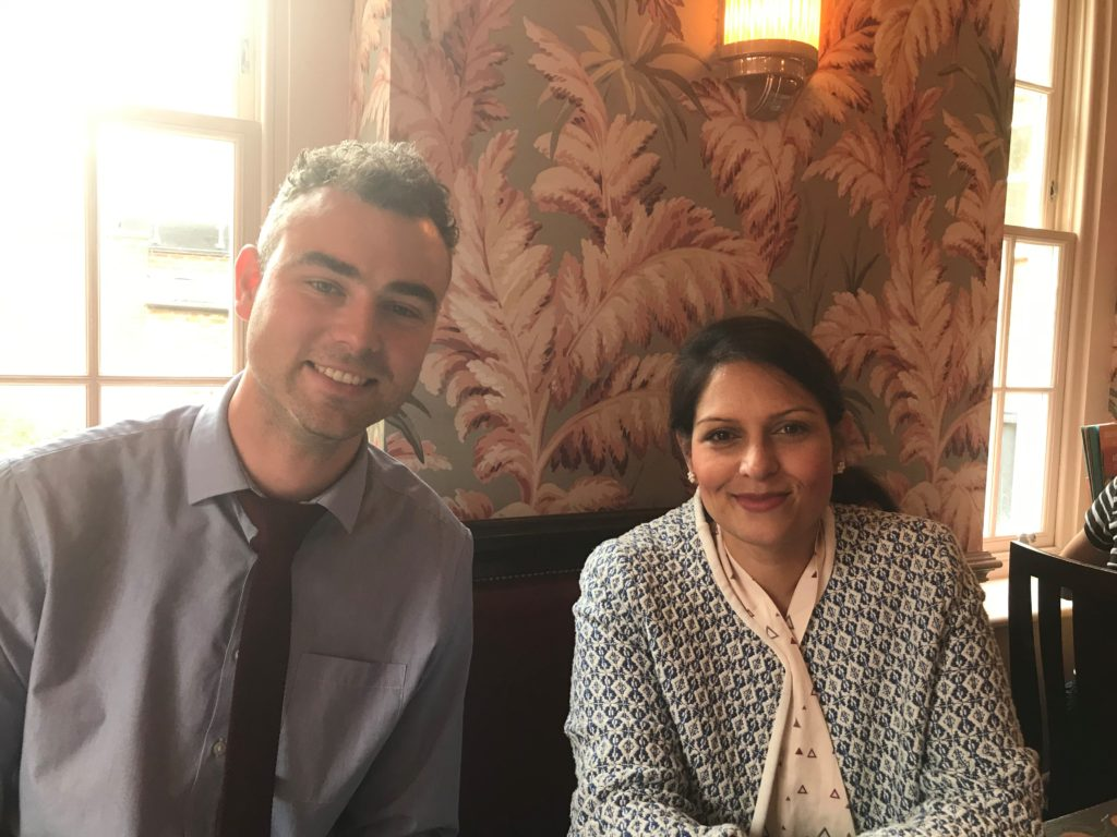 Priti Patel meets up with Realise Futures Social Enterprise