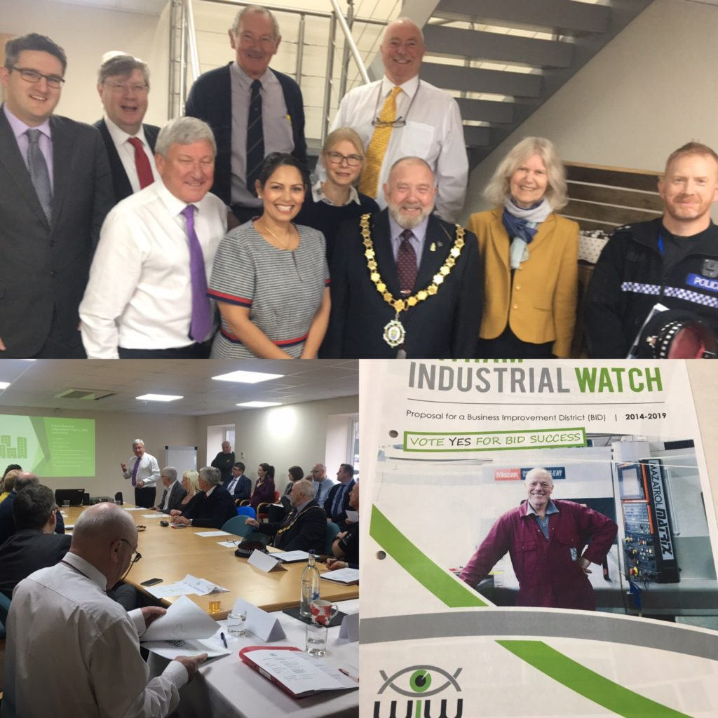 Priti Patel MP backs Witham Industrial Watch ballot