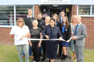 Priti Patel opens the new Personalise premises in Crittall Place, Witham