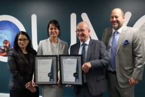 Chelmsford based Window Company (Contracts) Ltd receive their certificates for achieving ISO standards as audited by Auva Certification Ltd