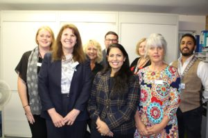Priti Patel MP with the Silver End Surgery team