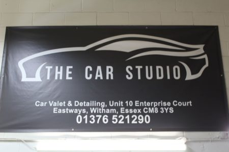 The Car Studio company signage