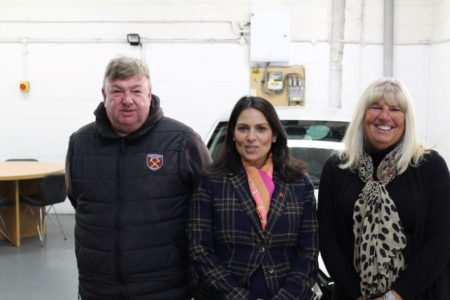 Priti Patel with Ian and Suzanne Coles