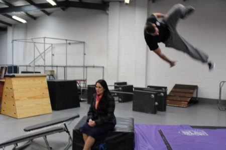 Priti Patel and the somersault stunt