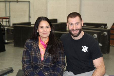 Priti with Brad Wendes at the Kinetix Academy
