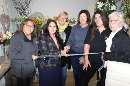 Priti Patel performing the ribbon cutting