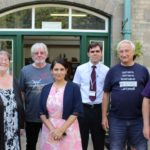 Priti Patel (centre) with Trustees and staff at the Museum of Power, Maldon.