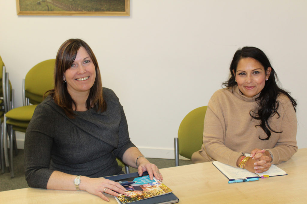 Priti meets up with Greenfields Community Housing CEO Emma Palmer