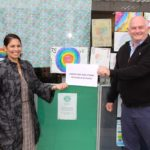 Priti Patel with Ian Cass, Compliant Solutions (20 years)
