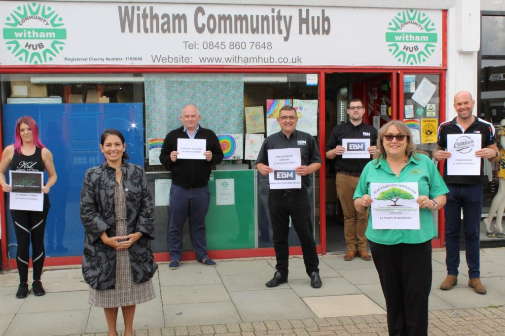 Priti Patel hails five Witham businesses on reaching major milestones