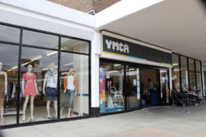 The store front of the new YMCA shop in the Newlands Shopping Centre, Witham.
