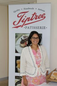 Priti Patel at the Tiptree Patisserie, Crittall Road, Witham.