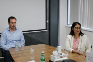 Priti Patel MP with James Hayman, MD of Hayman Group.