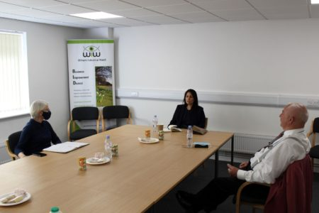 Priti meets with Witham Industrial Watch directors, Kate Carling and Neil Jesse.