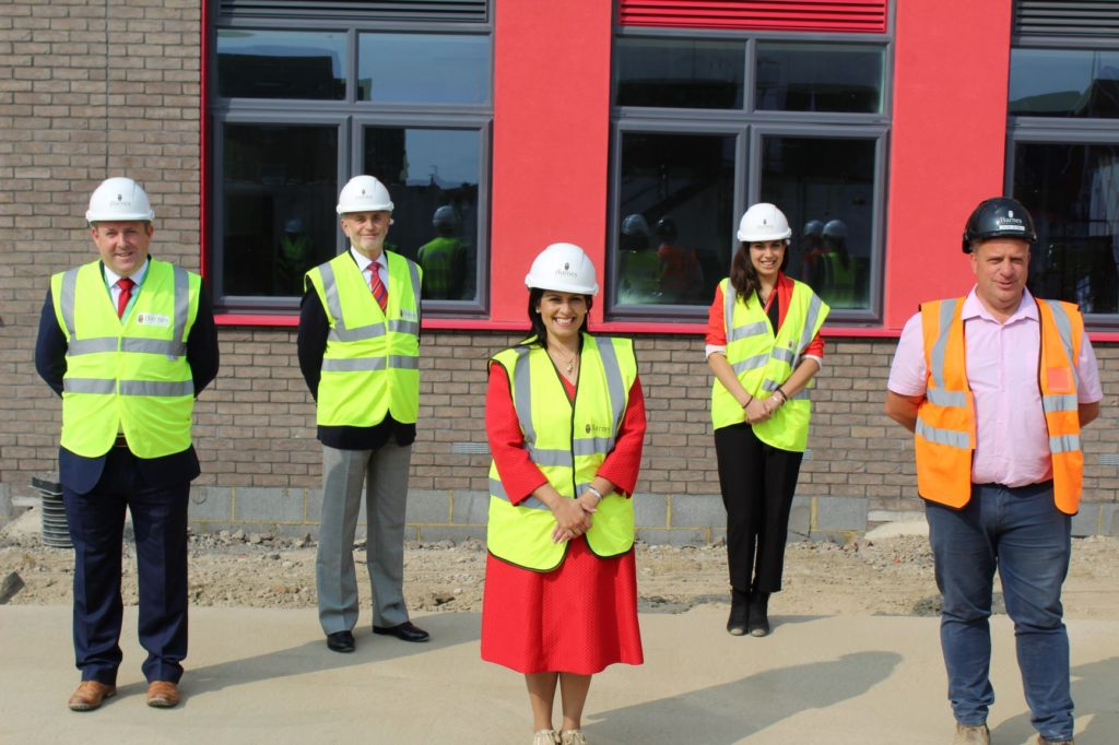 Priti visits the new Lakelands Primary School in Stanway
