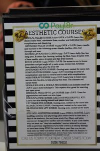 A list of the hair and beauty courses provided by the Matrix Academy