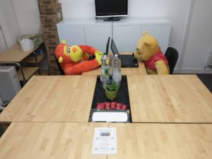 Some well known locals using the new facilities at the Witham Hub!